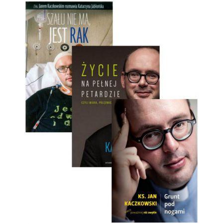 Zestaw 3 książek: Szału nie ma, jest rak, Życie na pełnej petardzie, Grunt pod nogami - Jan Kaczkowski