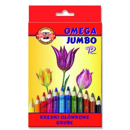 Kredki Omega Jumbo 12 kolorów